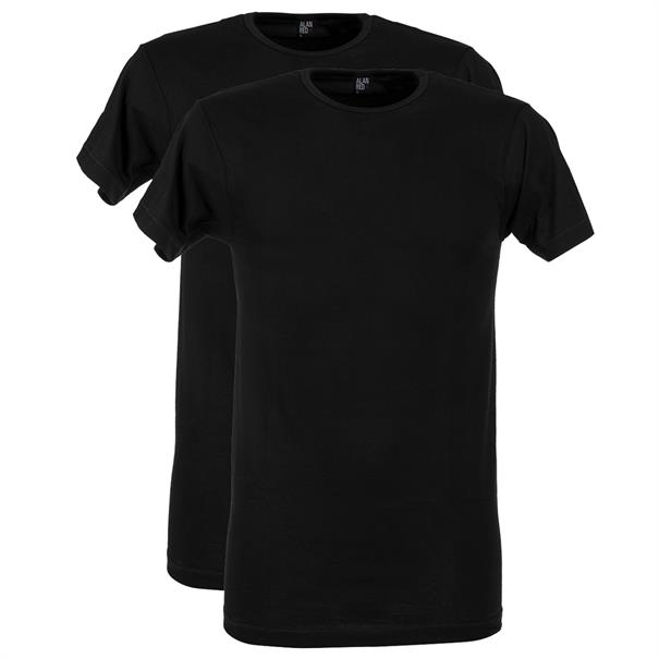 Alan Red T-Shirt Derby O-Neck 2-P
